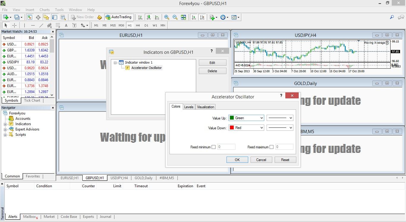 Forex4you MT4 Screenshot